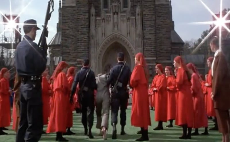 """The 1990 adaption of Margaret Atwood's novel """"The Handmaid's Tale"""" is one of many movies to use Duke's campus as a filming location."""