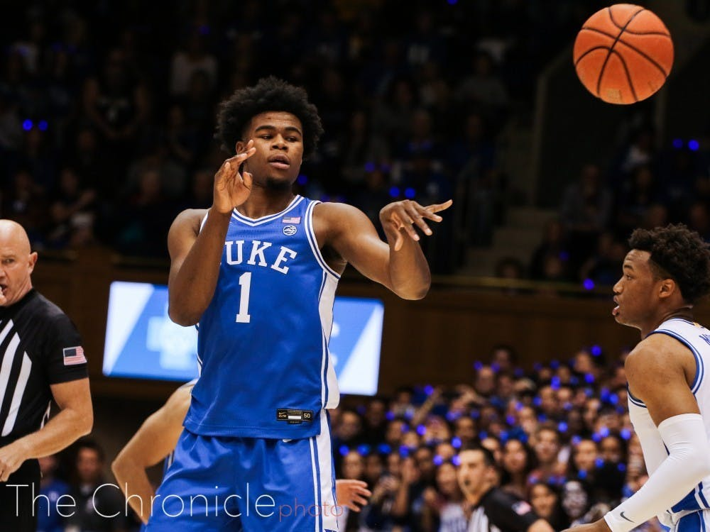 Vernon Carey Jr. led both sides with 15 points in Duke's Blue-White scrimmage at Countdown to Craziness