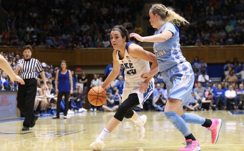 Rebecca Greenwell dropped 31 points and grabbed 11 rebounds in her final home game Sunday.