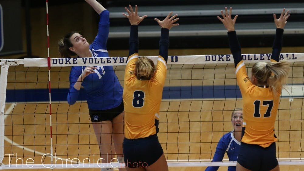 Samantha Amos team-high 16 points were not enough to push Duke past North Carolina.