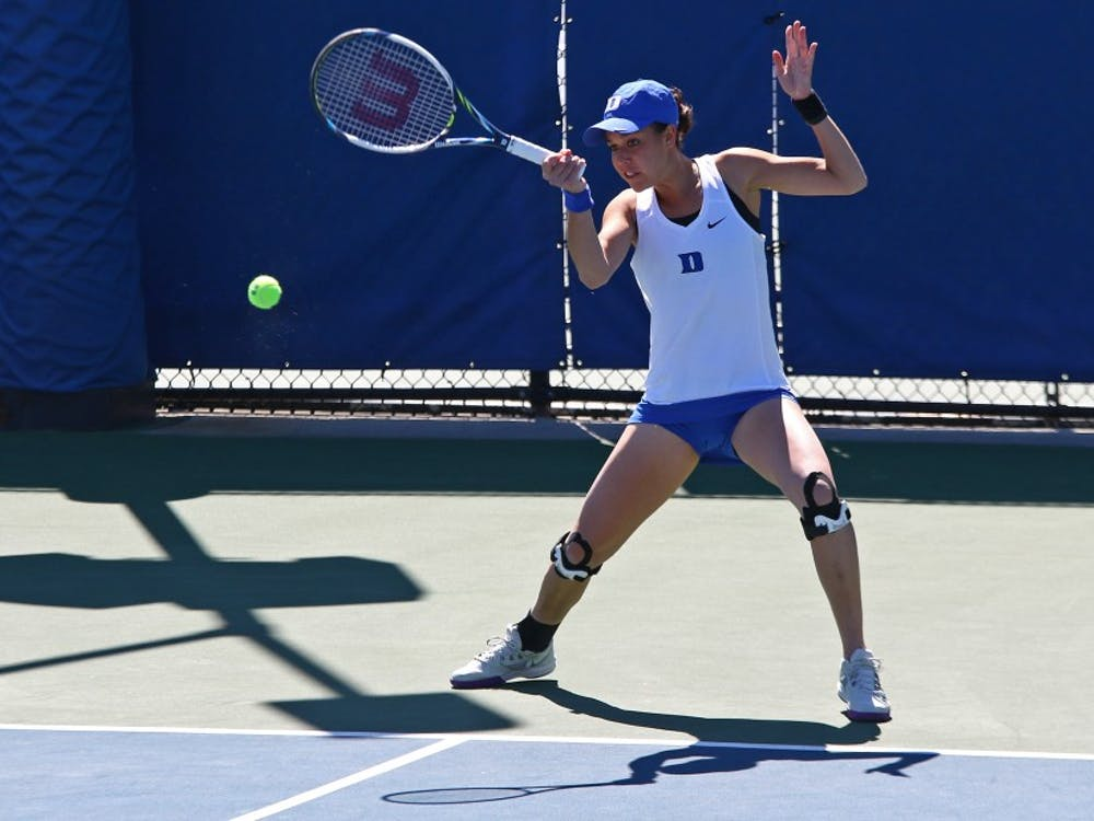 Senior Beatrice Capra battled back to clinch the Duke victory Sunday against Notre Dame.