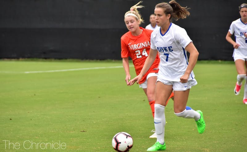 Senior Taylor Racioppi will be a key component to Duke's offensive scheme in their coming contest against the Demon Deacons.