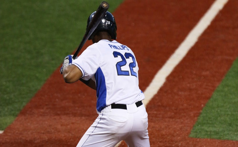 Jalen Phillips picked up three RBIs with a bases-clearing double in the seventh inning that broke open Friday's series opener against the Hokies.
