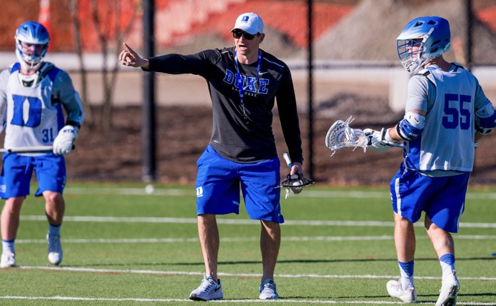 <p>Matt Danowski returned to Durham to be an assistant coach under his father in 2012 and works primarily with Duke's attackmen.</p>
