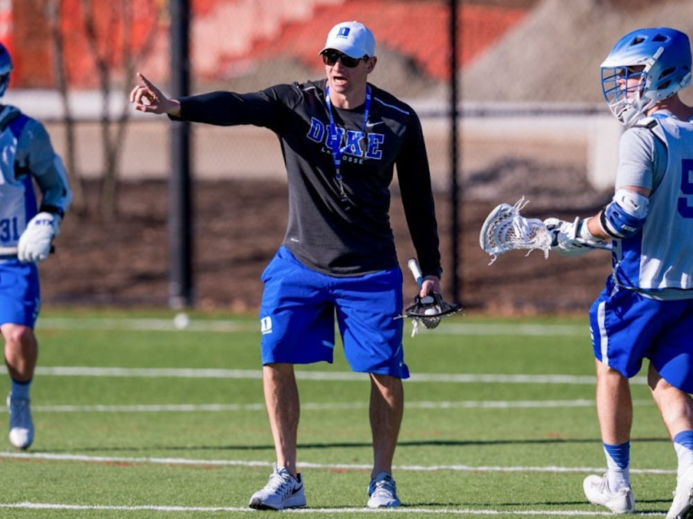 Matt Danowski returned to Durham to be an assistant coach under his father in 2012 and works primarily with Duke's attackmen.
