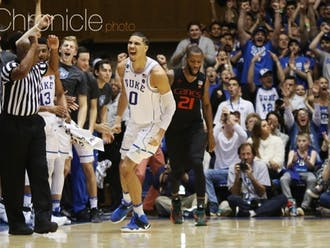 Jayson Tatum was one of three Blue Devils to be selected to this year's NBA All-Star Game, averaging 24.9 points and 7.1 rebounds on the season.