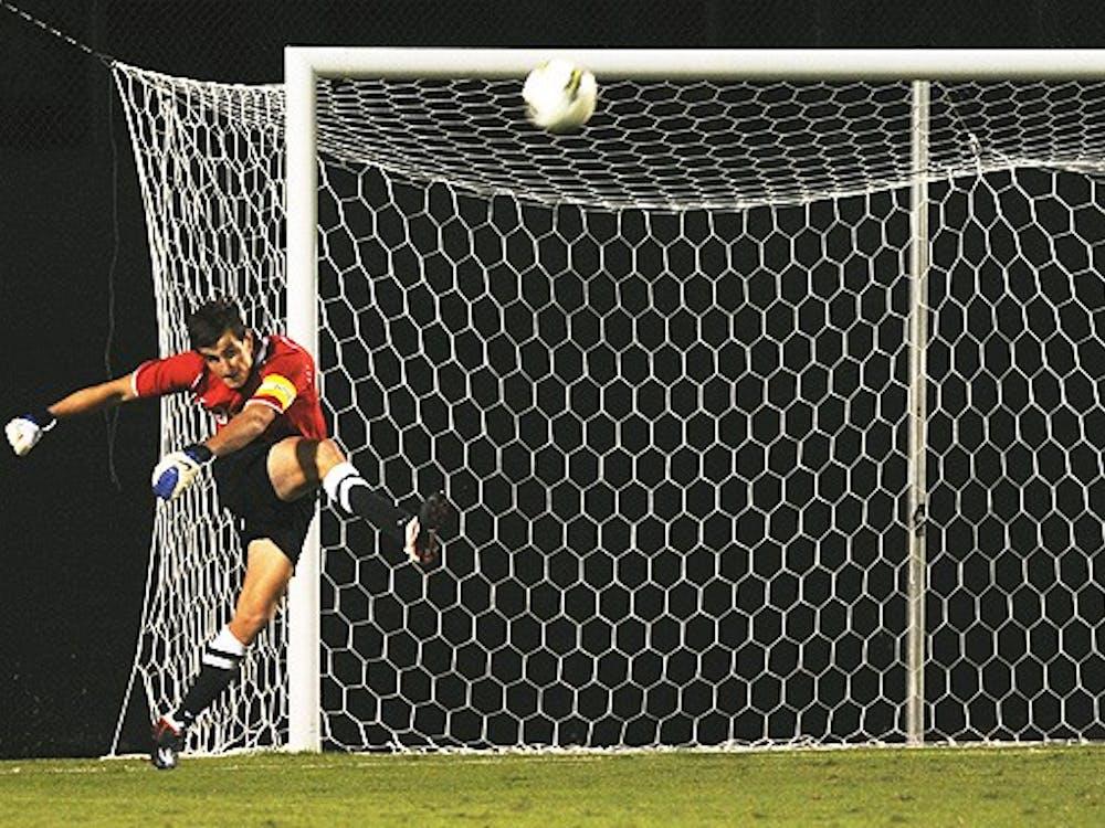 Duke goalkeeper James Belshaw recorded his eighth career shutout Tuesday against Davidson.
