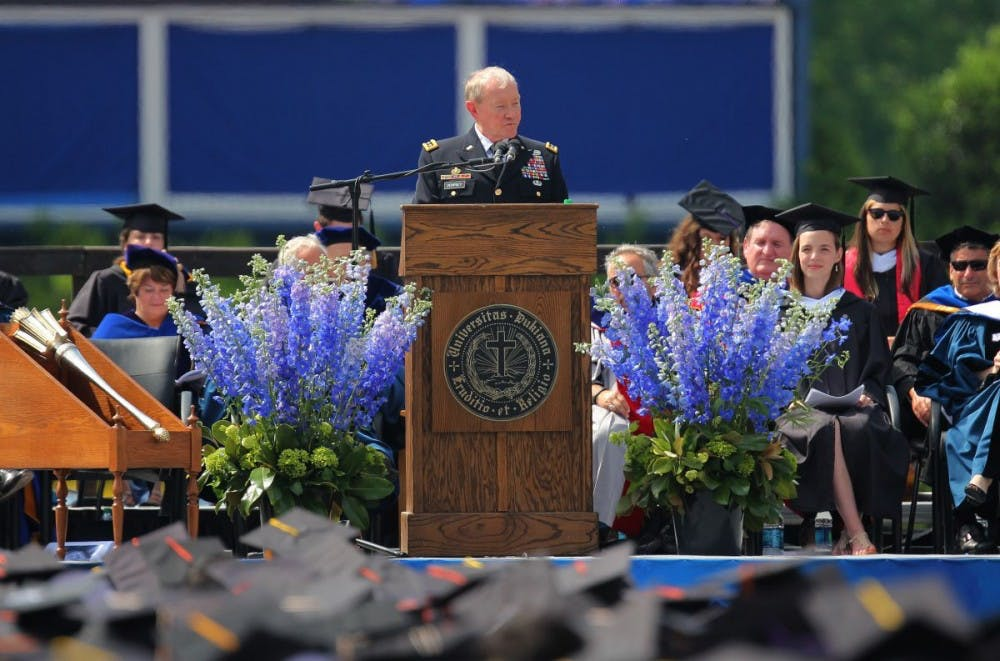 <p>Martin Dempsey, former chairman of the Joint Chiefs of Staff and Duke's 2014 commencement speaker, will teach courses at Duke in Spring 2016 and Fall 2016as a Rubenstein Fellow.</p>