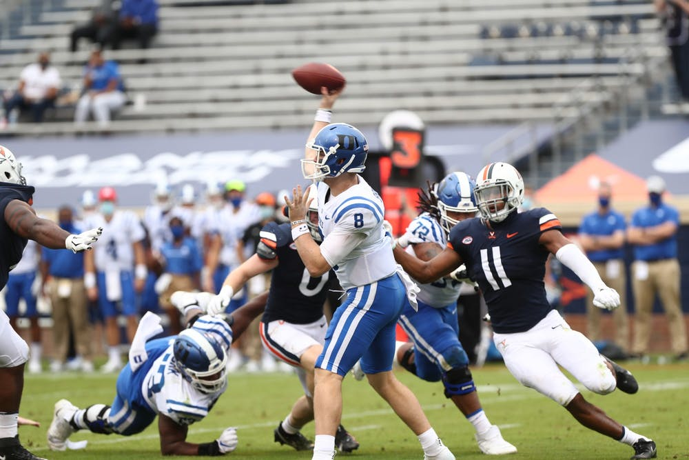 Third And Goal Duke Football Must Stop Virginia Tech S Rushing Attack The Chronicle