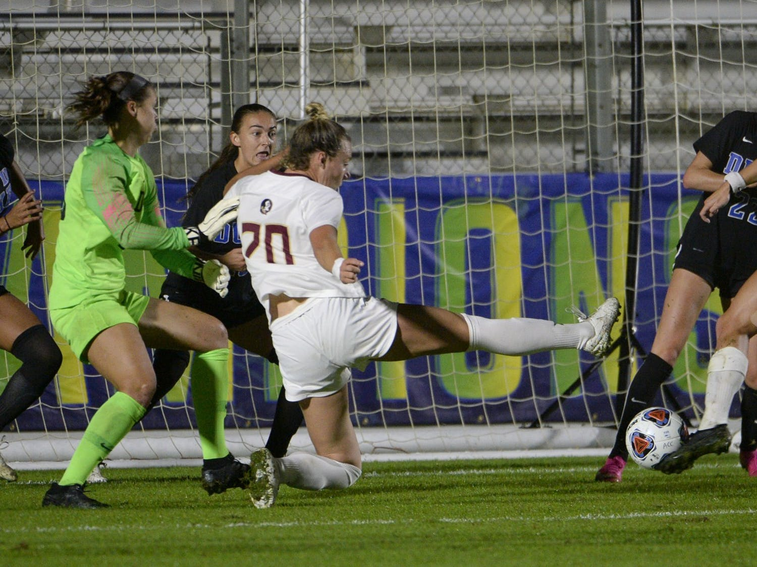Duke women's soccer simply could not hold off Florida State's lethal offense in the ACC semifinals.