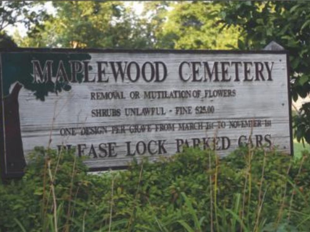 The Confederate monument is located inside Maplewood Cemetery.