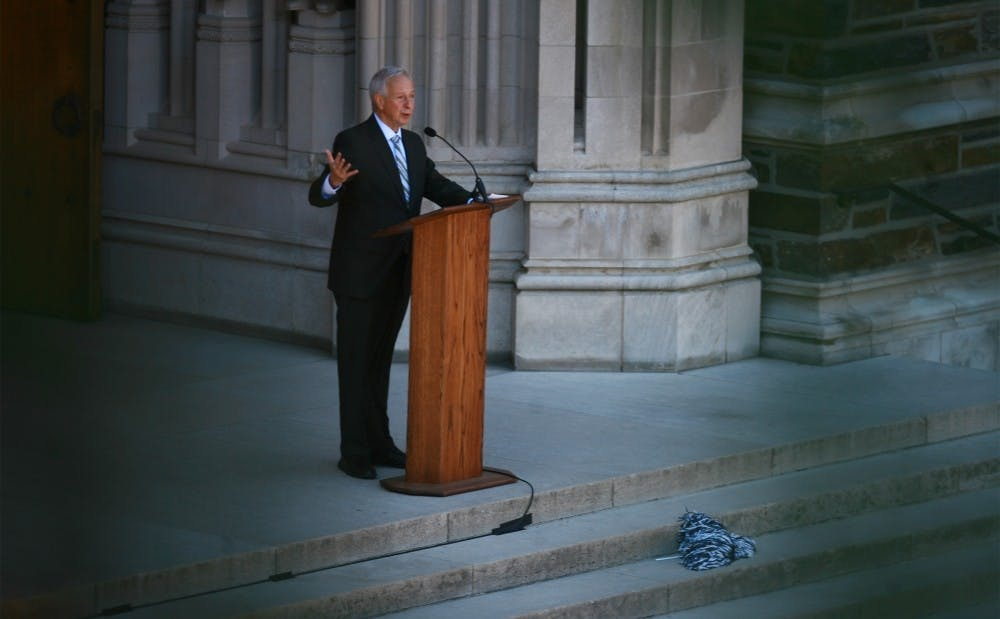 <p>Brodhead became the ninth president of the University in 2004.</p>
