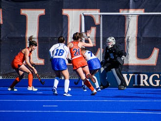 Hampsch's career-high seven saves anchored Duke to victory.