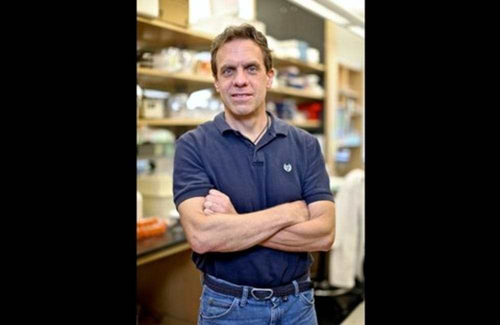<p>Christopher Nicchitta, professor of cell biology and biochemistry and associate professor of pathology, is the senior author of a recent study showing how the dengue virus secretly replicates in humans.</p>