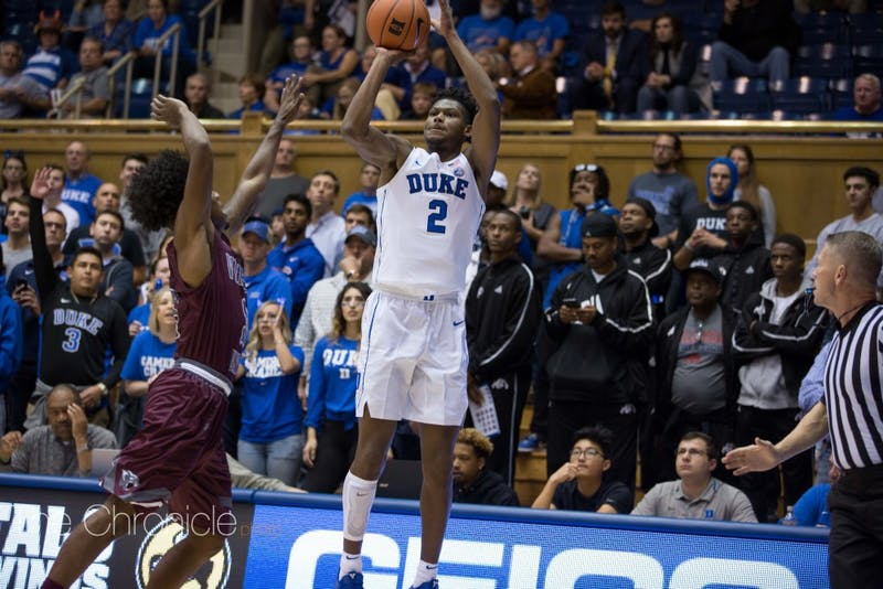 Cam Reddish can blow the game open for Duke with a good shooting performance against the Cavaliers.