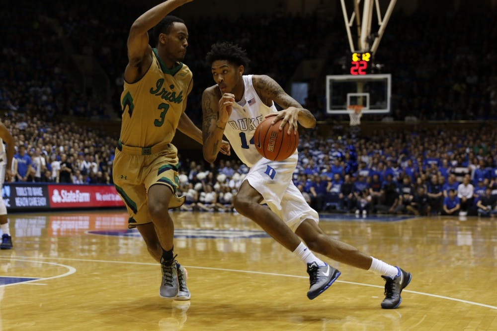 <p>Duke freshman Brandon Ingram and&nbsp;Louisiana State rookie Ben Simmons are required to go to at least one year of school before being eligible to make the move to the NBA.</p>