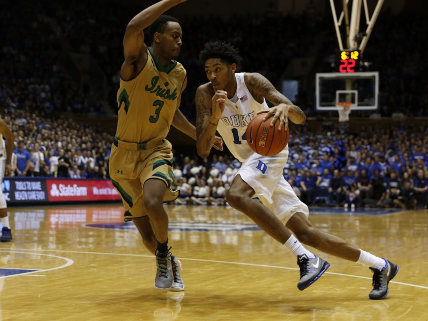 Duke freshman Brandon Ingram andLouisiana State rookie Ben Simmons are required to go to at least one year of school before being eligible to make the move to the NBA.