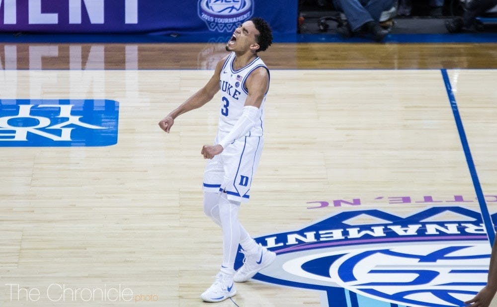 Tre Jones posted a cryptic Instagram caption that suggested he is considering staying at Duke next year.