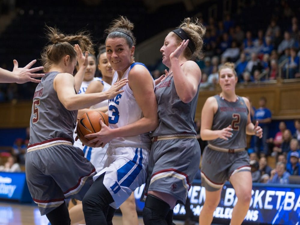 Rebecca Greenwell led the Blue Devils with 19 points on an efficient night.