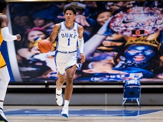 Jalen Johnson will look to leave his mark on the Tobacco Road rivalry Saturday.