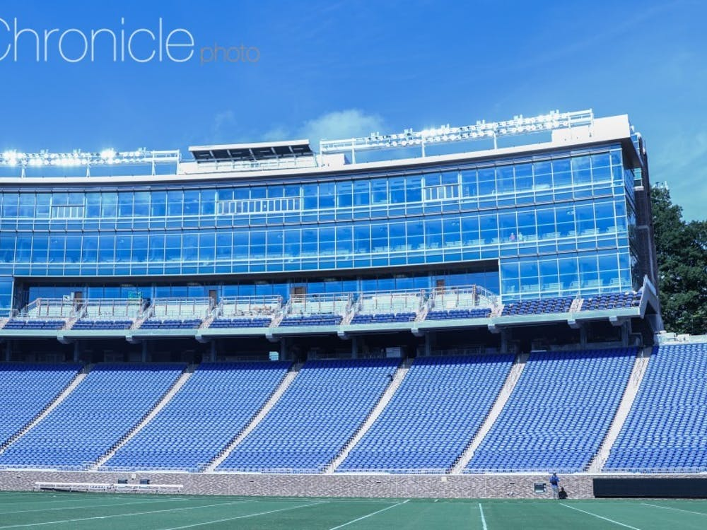 Although you can drink in certain private suites at Wallace Wade Stadium, Duke will still not allow alcohol sales throughout the concourse on game days.