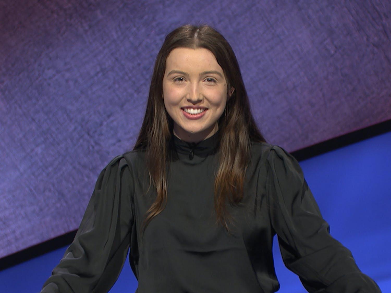 Grace Jeffrey, Trinity '21, will appear on Jeopardy! Thursday evening.