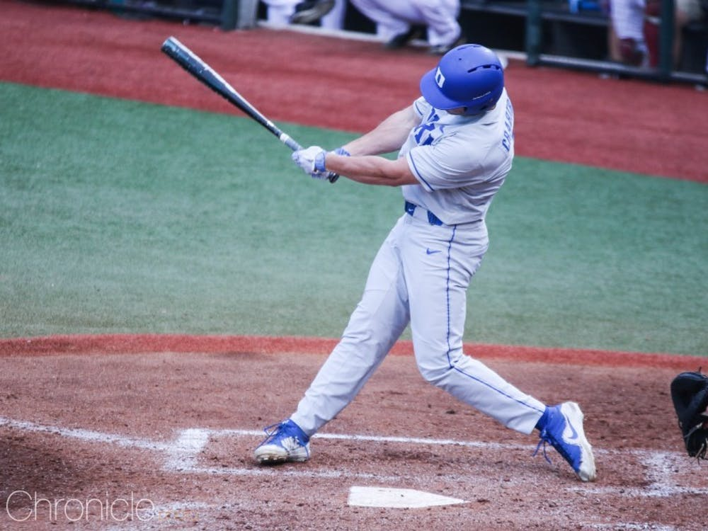 Chris Crabtree's three-hit game helped the Blue Devils to their only win of the weekend Friday.