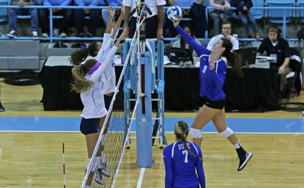 <p>Senior Emily Sklar and the Blue Devils will look to get back on track as they journey outside the state of North Carolina for the first time since mid-September this weekend.</p>