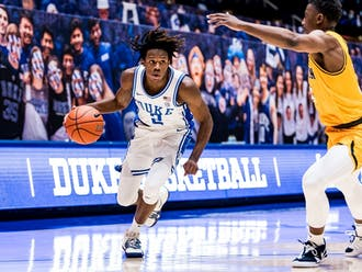 DJ Steward shot the ball well, but overall Duke's offense struggled throughout the first half Monday.