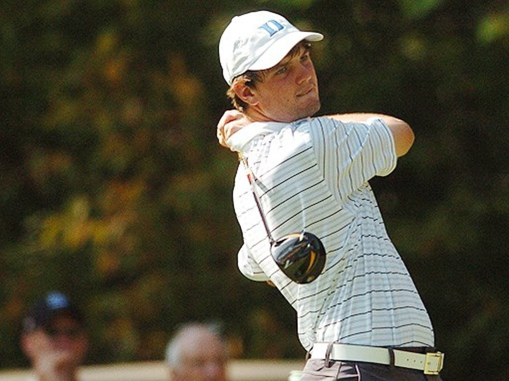 Duke's No. 2 golfer, Wes Roach, played less than steller, but the rest of the Blue Devils went low Monday.
