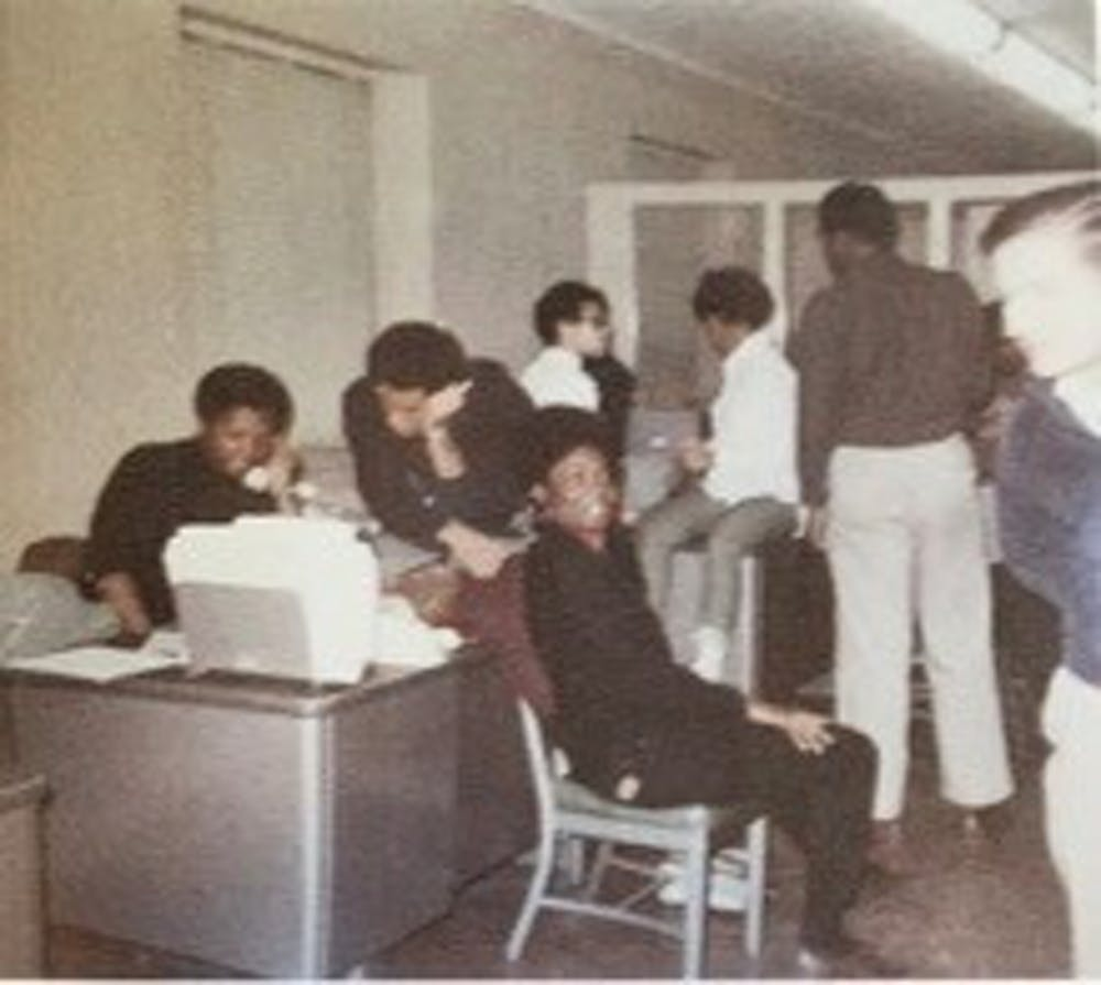 Lynette Lewis Allston (Trinity '72) took photos from inside the building. Courtesy of Duke Archives.
