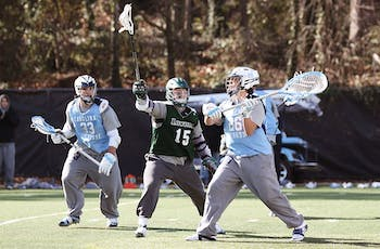 UNC Men's Lacrosse played Loyola in a scrimmage on Saturday afternoon.