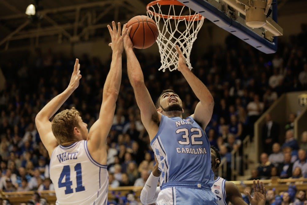 No. 8 UNC's three-man show steals the spotlight in 88-72 win at No. 1 Duke
