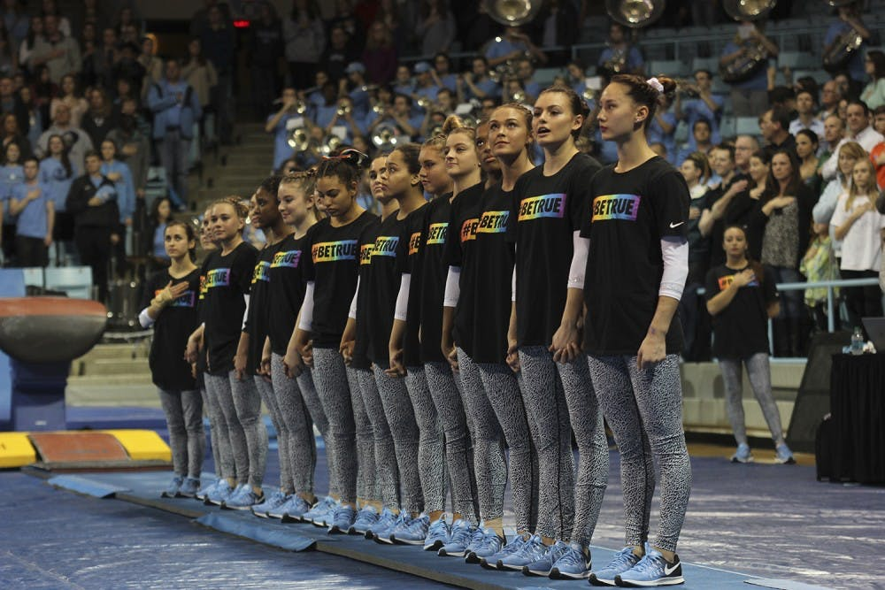 UNC gymnastics celebrates LGBTQ athletes with #BETRUE campaign