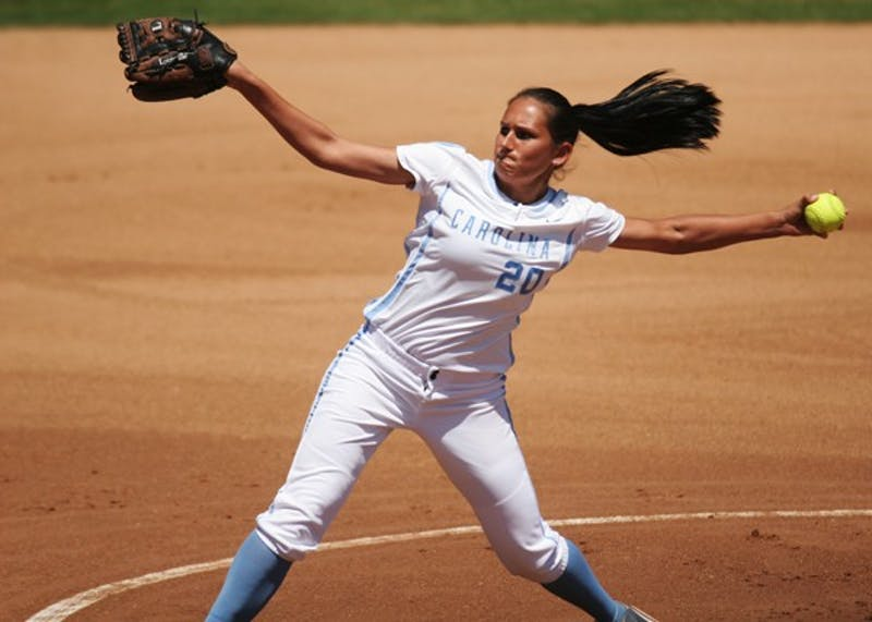 All-American Danielle Spaulding a nation-high average of 14.3 strikeouts per seven innings last season. DTH file