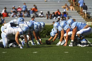 The Tar Heels face off in the spring game on Apr. 16. UNC football plans to focus on improving defense and replacing the seniors that graduated.