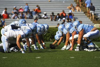 The tar heels face off Saturday afternoon at Kenan stadium.