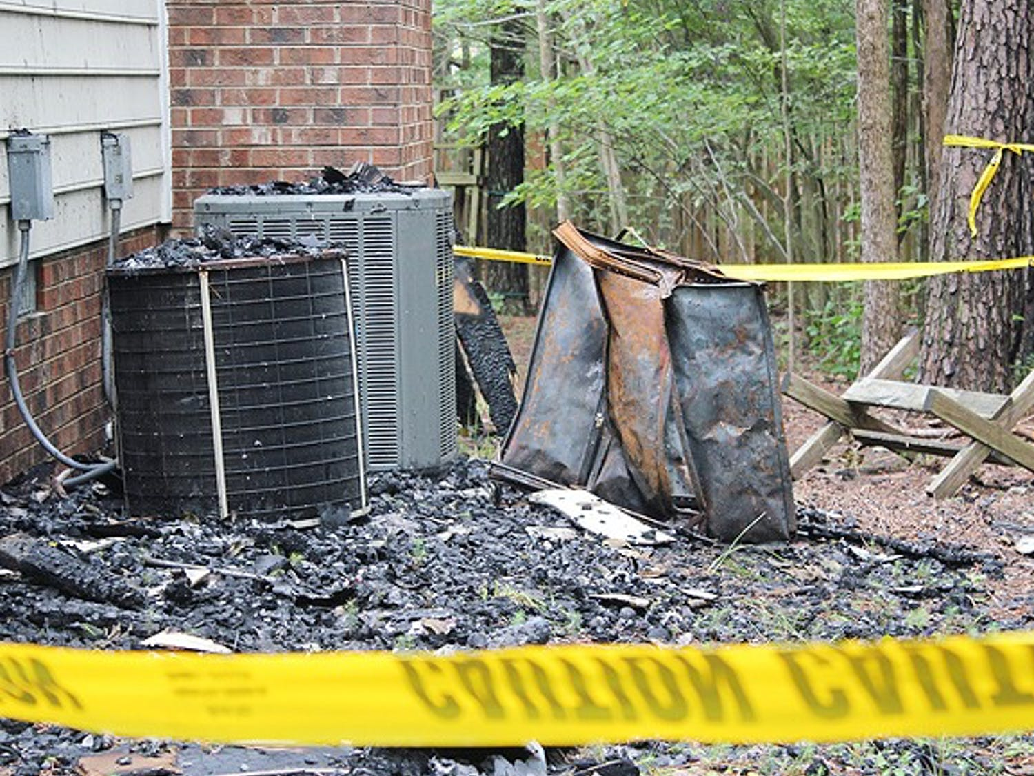 114 Pineoak Court suffered fire damage Sunday night, resulting in $150,000 worth in property damage (check w/ writer on this).