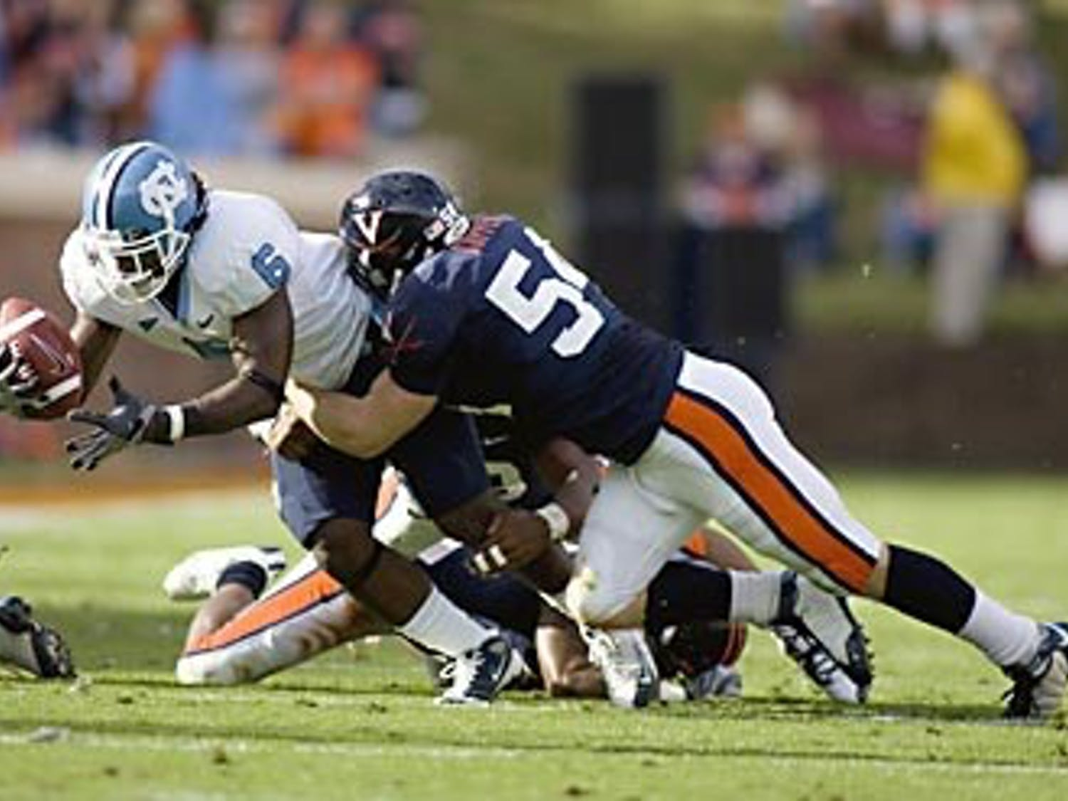 Though Anthony Elzy and the running game excelled on UNC?s side of the field the Tar Heel offense struggled inside the Virginia 40.