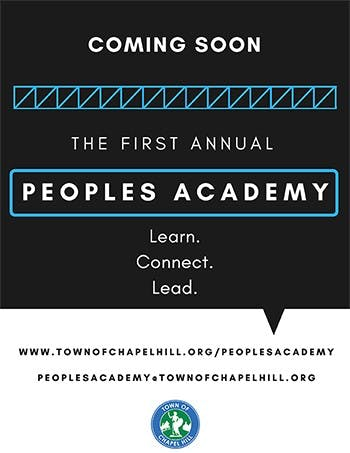 The Peoples Academy is a 5-week program designed to bring in more diversity and perspective to Chapel Hill's leadership. Photo courtesy to Peoples Academy.