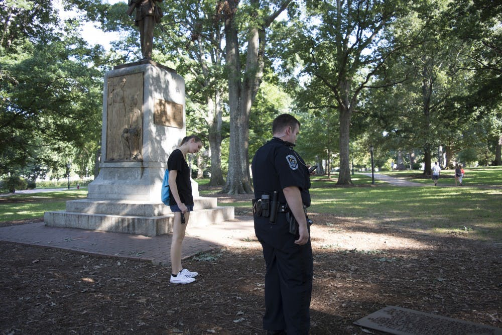 Campus, town police review options