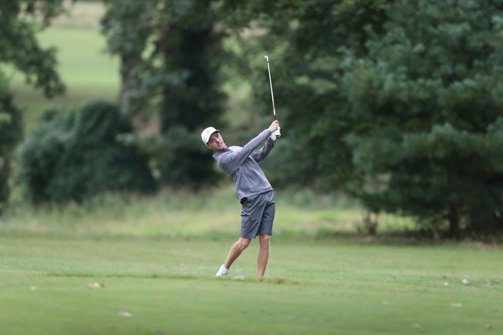 <p>UNC sophomore golfer Ryan Gerard follows through on a shot. Photo courtesy of Go Heels.</p>