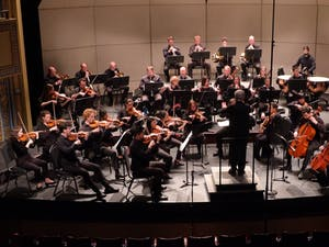 The Chamber Orchestra of the Triangle performs. The Orchestra will hold its first in-person concert in over a year on Sunday, May 2 at the North Carolina Museum of Art. Photo courtesy of the Chamber Orchestra of the Triangle.