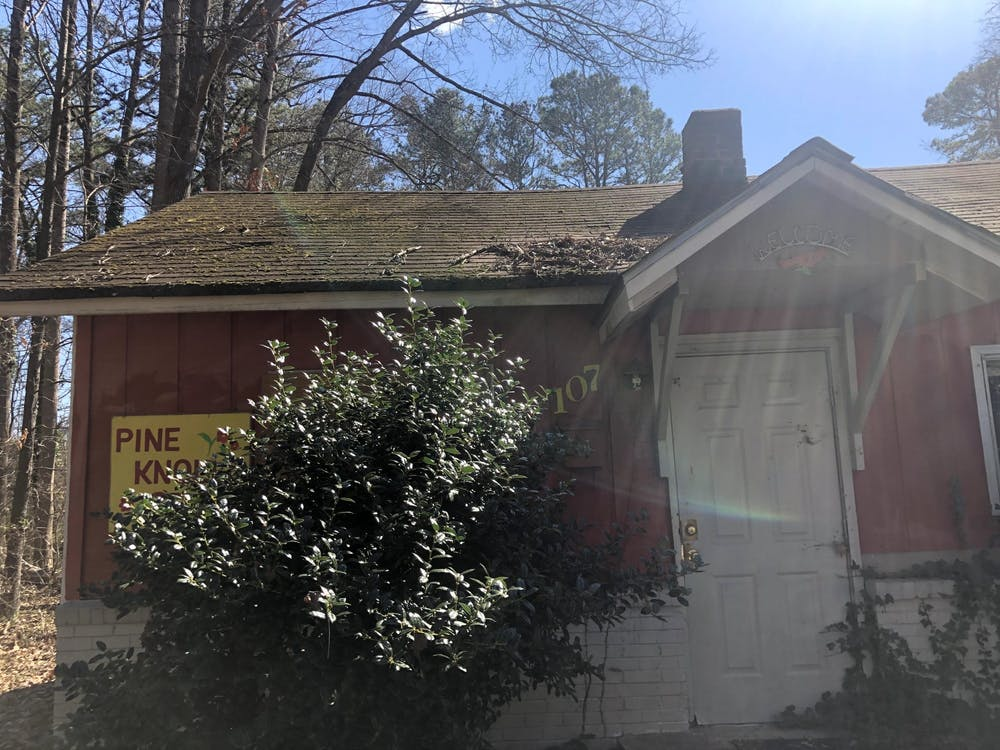 Pine Knolls is a historically Black neighborhood just west of Merritt Mill Road, where UNC provided housing for some janitorial staff and subsidies for other Black workers facing postwar hardship.
