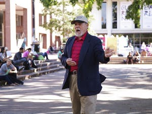"""Gary Birdsong, often referred to as the """"Pit Preacher"""" declared hateful speechery on Monday afternoon from the pit. The weather was lovely."""