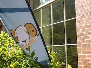 The banner outside of the Writing and Learning Center, one of the many services offered to students at UNC, at the SASB Plaza on Sunday, June 7, 2020.