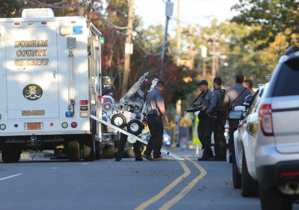 Thursday night was a bust for Carrboro following bomb threat
