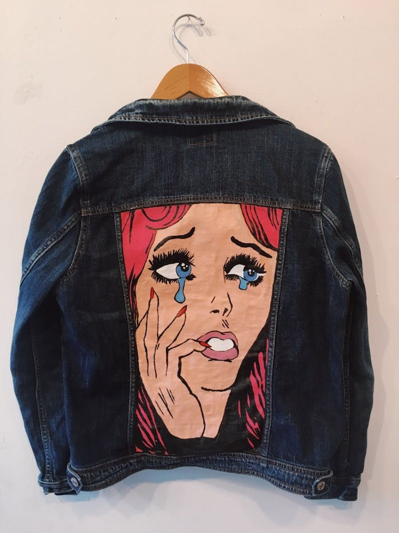 Cassidy Goff thrifts and paints denim clothing to make extra money while in college. Photo courtesy of Cassidy Goff.