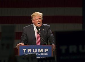 President Donald Trump spoke in the Greensboro Coliseum in June of 2016.