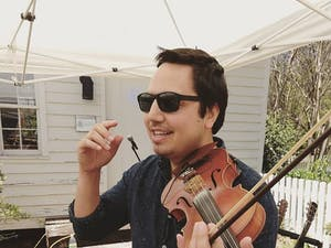 Local violinist and mental health advocate David Binanay is better known as Violin Remix. Photo courtesy of David Binanay.